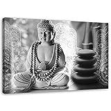 Cuadro en Lienzo Buda 60x40 cm Impresion en Calidad fotografica zen spa gris