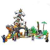 QZPM Kit De Iluminación LED para Lego (Ninjago Aldea De Los Guardianes) Compatible con 71747 Bloque De Construcción Model (Modelo De Lego No Está Incluido)