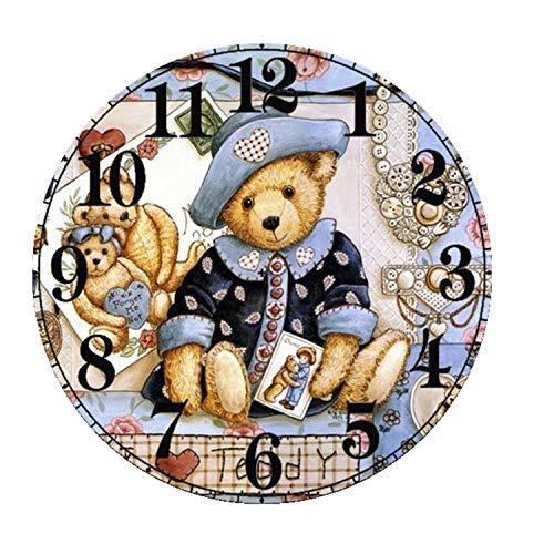 Lxmsja Kits de Reloj de DIY 5D Diamante Pintura, Completo Cristal Reloj...