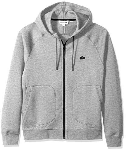 Lacoste Men's Long Sleeve Milano UNI Sweatshirt Sweater, Silver Chine, XXL