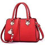 whcct Bolso de lujo para mujer Bolso bandolera de cuero PU Tassel Lady Crossbody Bag