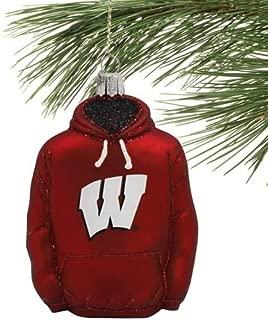 NCAA Wisconsin Badgers Glass Hoodie Ornament