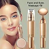 2-IN-1 Gesichtsmassagegerät Augenmassagegerät, Hochfrequenz VibrationElektrisches Schönheits-Instrument Massagegerät für Gesicht,Augen,Nase,Haut,Kopf, Bein und Arm