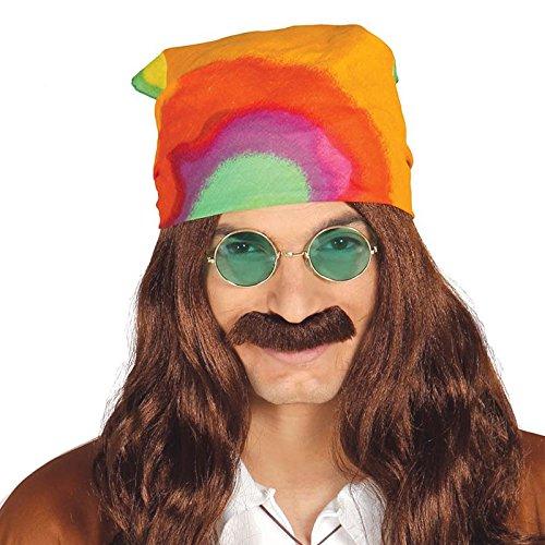 1960's Multi Coloured adult hippie bandana.