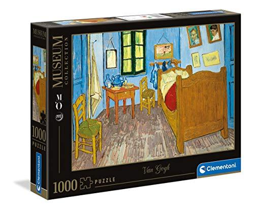 Clementoni Museum Collection-Chambre Arles, Van Gogh-1000 pièces-Puzzle Adulte-fabriqué en Italie, 39616, Multicolore