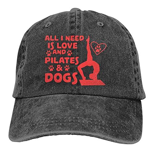 DJNGN All I Need is Love and Pilates Dogs Gorra de béisbol Ajustable Unisex Gorra de béisbol Casquette