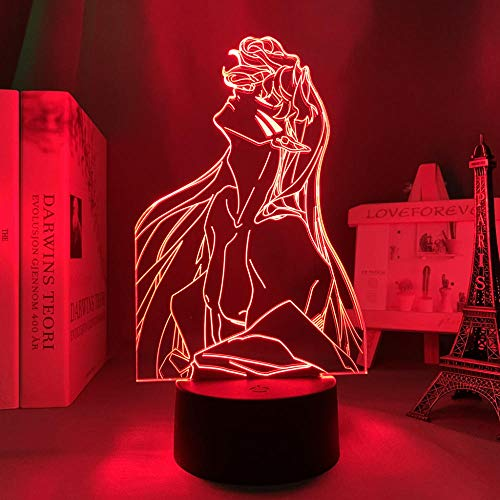 Lámpara de noche 3D con ilusión anime LED de Inuyasha Sesshomaru para niños, decoración de habitación infantil, luz nocturna, regalo de Navidad, manga inuyasha Room Desk 3D lámpara acrílica ZMSY