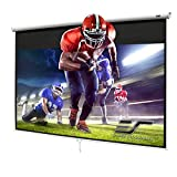Elite Screens Manual Series, 150-INCH 16:9, Pull Down Manual Projector Screen with AUTO LOCK, Movie Home Theater 8K / 4K Ultra HD 3D Ready, 2-YEAR WARRANTY, M150XWH2