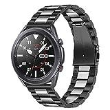 TRUMiRR Galaxy Watch 46mm / Gear S3 Bandas, 22mm Sólido de Acero Inoxidable Metal Band Correa de liberación rápida para Samsung Galaxy Watch 46mm, Gear S3 Classic Frontier,Galaxy Watch3 45mm