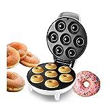 GFITNHSKI Macchina elettrica Maker Donut Maker, Cake Maker/Waffle Maker, 7 buche Donut, Piastre Calda ANTITIVA, Avvolgitore Cavo Cool Touch Maniglia per la casa/Cucina