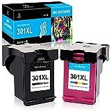LeciRoba 301 XL Ersatz für hp 301 druckerpatronen Multipack und für hp 301 XL für HP Deskjet 1000 1050A 1510 2050 2540 2544 3050 HP Envy 4500 4504 5530 HP OfficeJet 2620 2622 4630 (1Schwarz,1Farbe)