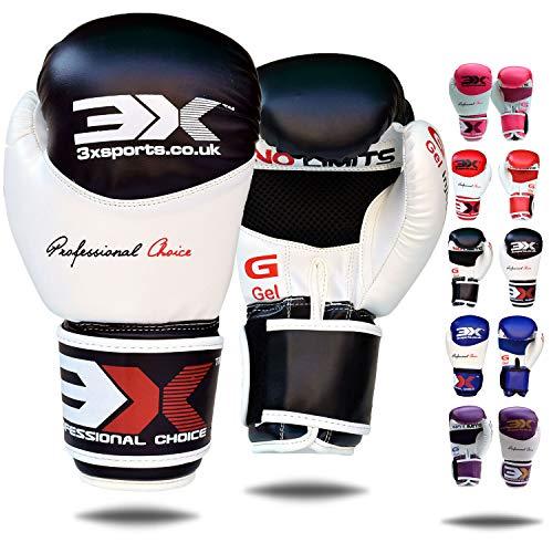 3X Professional Choice Guantoni da Boxe Maya in Pelle Muay Thai Punch Bag Mitts Kickboxing Sparring Allenamento di Arti Marziali