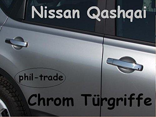 Nissan Qashqai Chrom-Türgriffe (Kappen) aus EDELSTAHL ohne I-Key