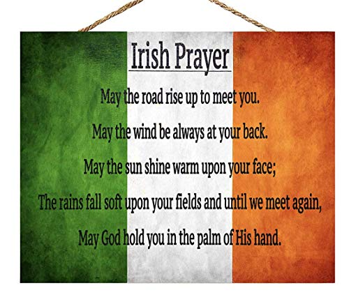 JennyGems Wood Sign, Celtic Prayer | Irish Blessing | Irish Theme Kitchen Wall Decor and Accessories | Irish Signs Irish Gifts | St. Patricks Day | Made in USA