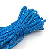 CAMPA DE CAMPING 10yds Paracord 550 Cordón de paracaídas Cuerda de cordón Cuerda Mil Tipo de especificación III 7 Strand Escalada Camping Equipo de supervivencia #light Blue + cuerda de nylon