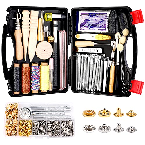Lokunn 128 Pieces Leather Tool Kit