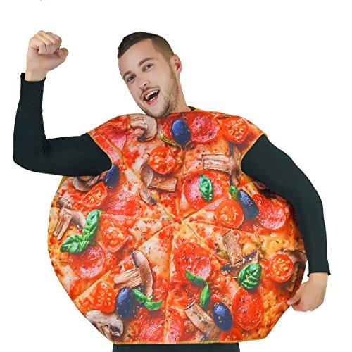 SEA HARE Unisex Stampa Digitale 3D Adulto Fetta di Pizza Costume