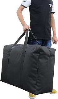 超特大 ボストンバッグ 大容量バッグ 無地 600Dオックスフォード素材 厚手 強化丈夫 防水 大きいサイズ 約145L 折りたため コンパクト 出張 旅行 キャンプ輸送 非常用 保管袋 衣替え アウトドア 引っ越し 便利ダンズ ブラック