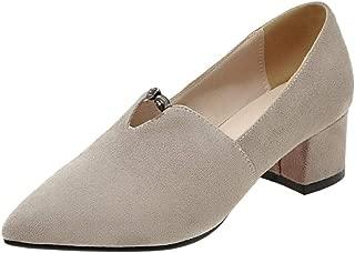 Melady Women Fashion Brogue Shoes Mid Heels