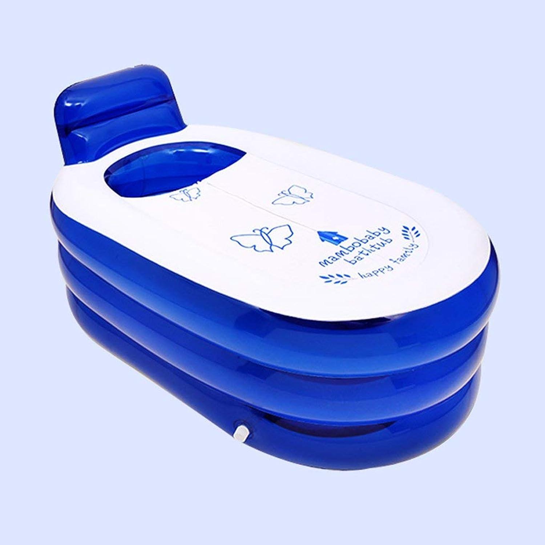 Cxmm Aufblasbare Badewanne Erwachsenenbadewanne Dampfbadewanne Faltbadewanne begaste Kunststoffwanne verdickt zum Sitzen Badewanne Blaue Badewanne