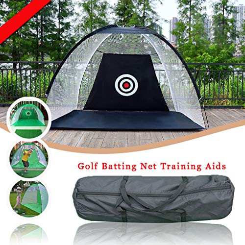 WUTONG Foldable Golf Batting cage Field Indoor and Outdoor Chipping Golf...