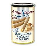 Antiu Xixona Original - Barquillos de Turrón, Sin Azúcares Añadidos, 200 Gramos