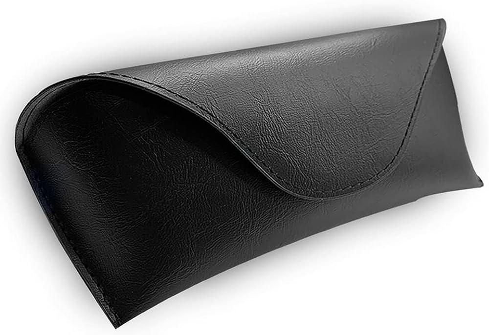 Leather Glasses Case, Portable Soft Sunglasses Case, Classic Fashion Unisex Eyeglass Case, Lightweight