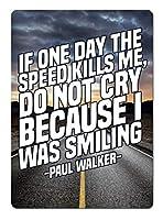 Paul Walker 金属板ブリキ看板警告サイン注意サイン表示パネル情報サイン金属安全サイン