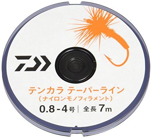 ダイワ(DAIWA) ナイロンライン テンカラ テーパーライン 0.8-4号 7m×2 イエロー