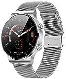 ANMI Smartwatch Mujer, Reloj Inteligente Hombre Deportivo 1.3 Pulgadas Táctil Completa IP68, Monitor de Sueño, Control...