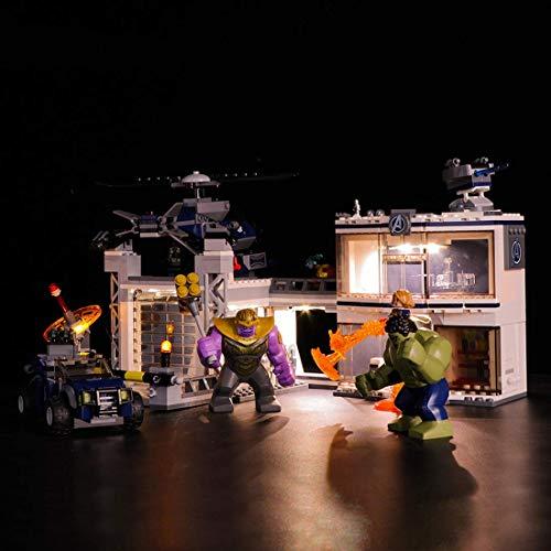 LINANNAN Light Kit für Avengers Base Duell Bausteine Modell - LED-Lichtsatz kompatibel mit Lego 76131...