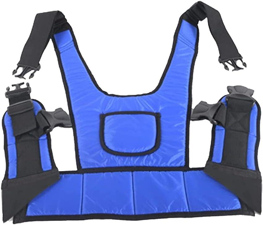 NXX Cinturón Protector para Silla De Ruedas,Arnés para Silla De Ruedas para Proteger La Cintura Y El Abdomen,Cinturón Acolchado para Suministros para Sillas De Ruedas para Pacientes