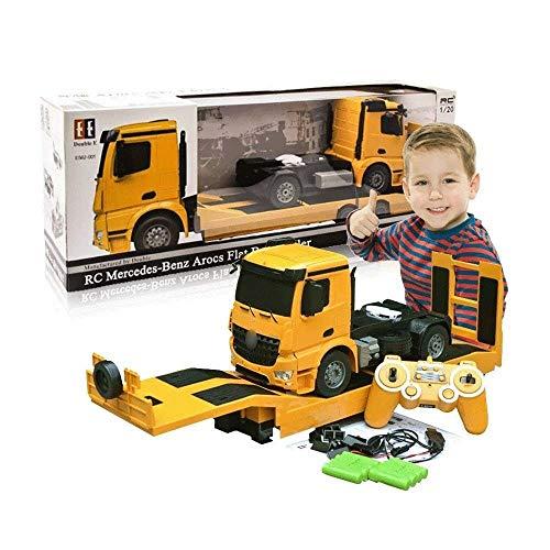SSBH Control remoto juguete Flatbed Trailer Semirremolque Niños eléctricos grandes de la...