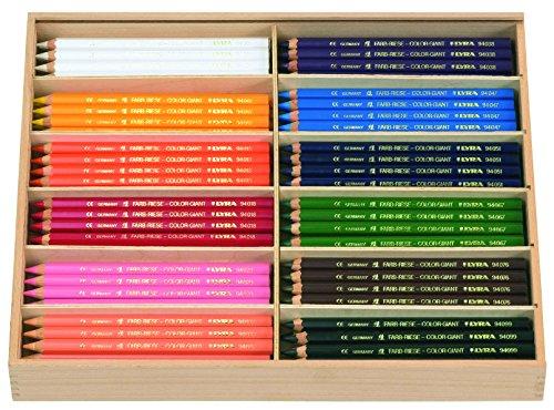 LYRA Farb-Riesen Holzkasten mit 144 Farbstiften, Sortiert, 3944144