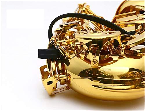 UP100 Stop Sticky Saxophon Key Pads, passend für Alto, Tenor, Bari und Basssaxophon Schwarz
