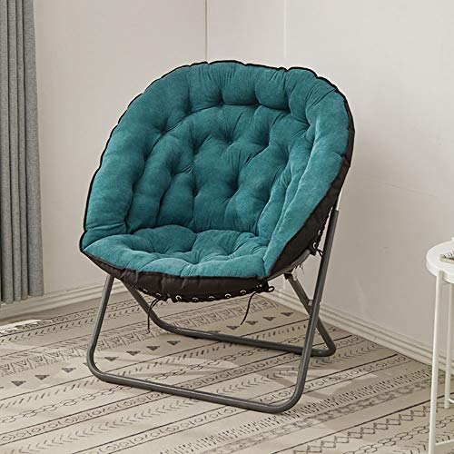 Large Sofa Chair, Tea Dish Chair, Comfortable Folding Lounge Chair Made of Cotton and Linen Fabric, Various Styles D-20-10-26 (Color : Blue)