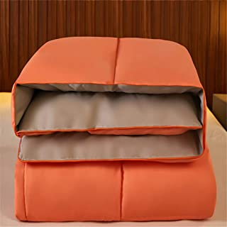 Luxurious Duvet, Soft and Comfortable, 100% Anti-mite, Anti-allergic, and Machine Washable. (Orange gray,200 x 230cm 5kg)