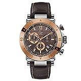 Guess Reloj Cronógrafo para Hombre de Cuarzo con Correa en Cuero X90020G4S