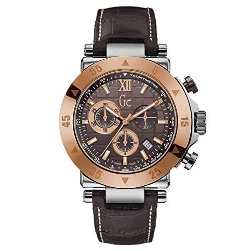 Guess Herren Chronograph Quarz Uhr mit Leder Armband X90020G4S
