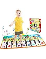 Piano Mat, Toetsenbord Tapijt Touch Speelmatten Dansmatten Baby Early Education Muzikaal tapijt met 8 dierengeluiden voor jongens Meisjes Speelgoed Geschenken