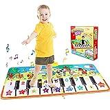 Tappeto Musicale Bambini, Bambini Tappetini, Baby Piano Musicale Touch Play Game Dance Music Carpet Mat Coperta, Tappeto da Gioco Bambino Prima Educazione Giocattoli per Bambini Regalo(135x60cm)