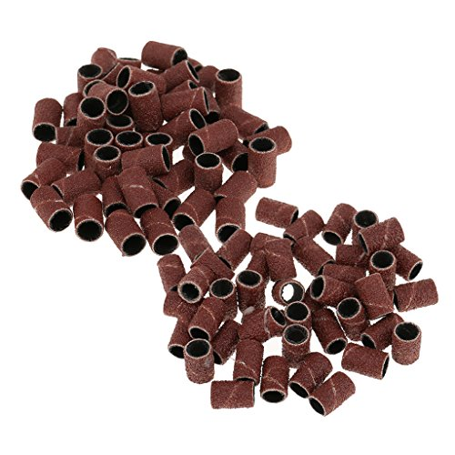 MagiDeal 100x Nail Drill Tambour Bande de Poncage Remplacement Machine de Manucure/Pédicure 80# 120#