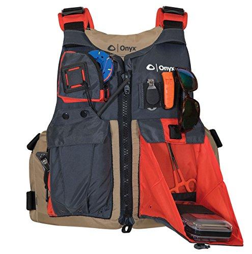 Onyx Kayak Fishing Life Jacket, Universal, Tan