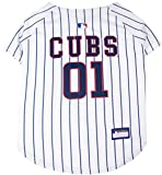Pets First MLB Chicago Cubs Dog Jersey, XXX-Large. - Pro Team Color Baseball Outfit
