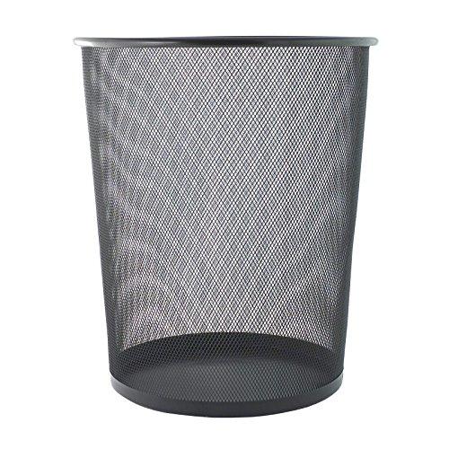 Bid Buy Direct - Large/Small Circular Mesh Bins - Sturdy & Lightweight - 2 Colours (1 Large, Black) by Bid Buy Direct