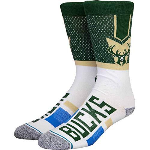Stance NBA Milwaukee Bucks Shortcut 2 Socken (43 EU - 47 EU, Green)