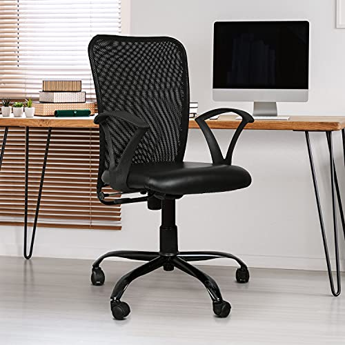 TIMBER CHEESE Ergonomic Desk REVOLVING Chair (with Warranty) (Large, Black)