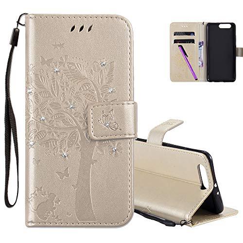 COTDINFOR Huawei P10 Plus Case Premium PU Custodia in Pelle Cash Pocket Flip Custodia a Portafoglio...