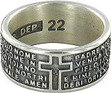 Anello in argento 925 brunito con l'incisa preghiera Padre Nostro misura italiana n°22 - diametro interno mm 19,8 circa