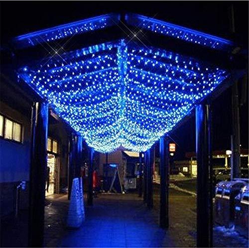 Blue Fairy Net Light, String Lights Decorative Mesh Lights 8 Different Flash Modes String Light Wedding Cocktail Party Birthday BBQ Bistro Cafe Decoration ( Color : Blue , Size : 9.8ftx6.6ft(3mx2m) )